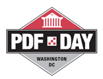 Logo, P.D.F. Day, Washington D.C.
