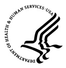 Logo, Department of Health and Human Services (HHS).
