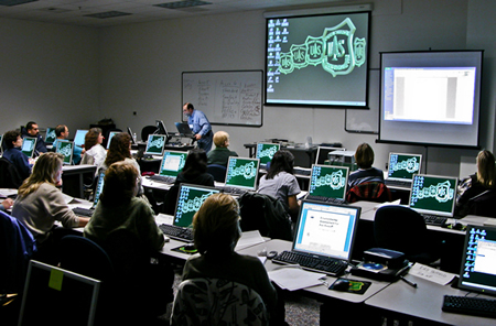Photo of a group classroom session.